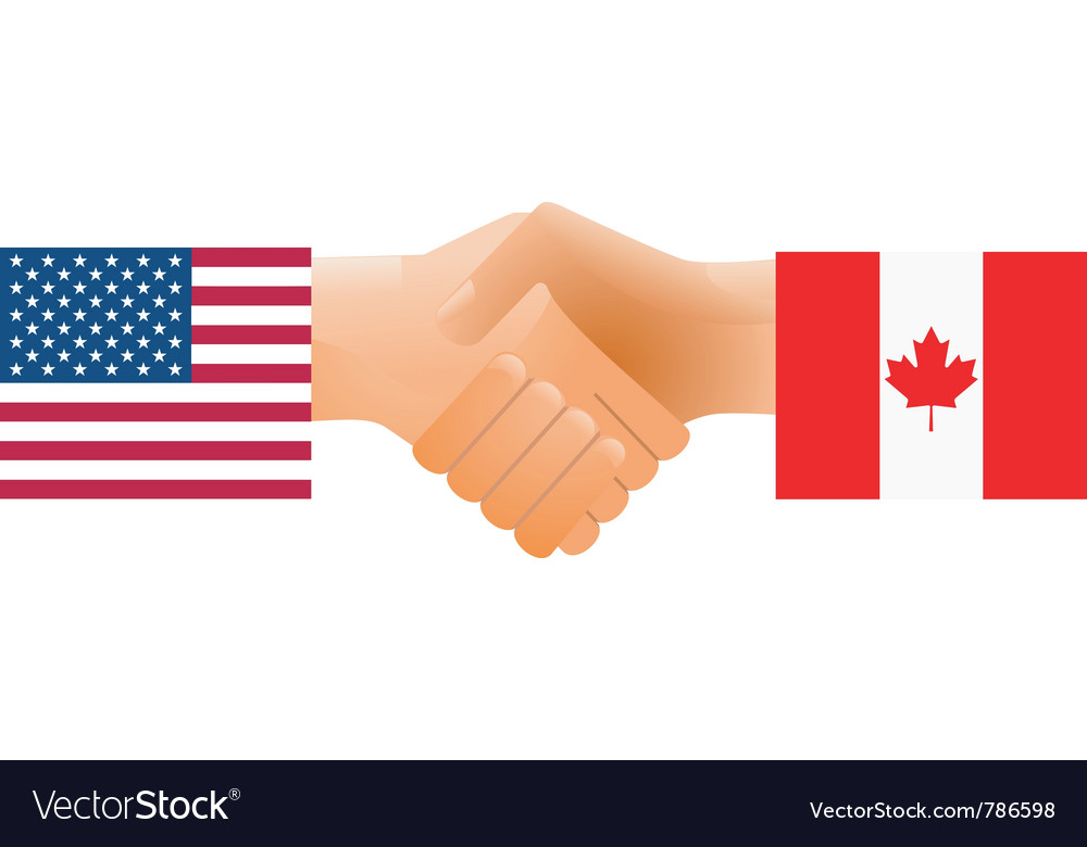 United states and canada vector | Price: 1 Credit (USD $1)