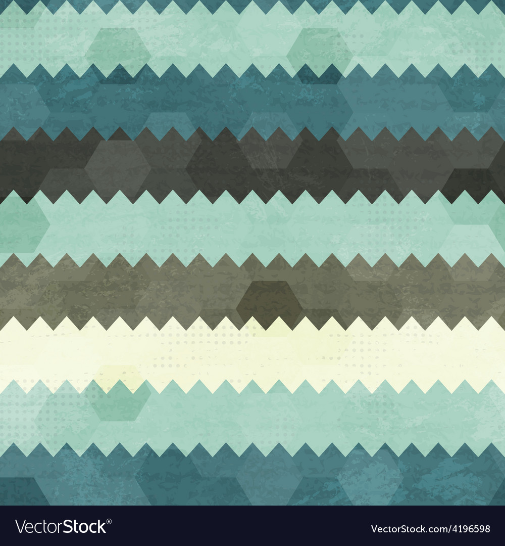 Vintage zigzag seamless pattern vector | Price: 1 Credit (USD $1)