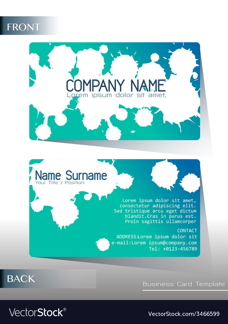 A calling card design vector | Price: 1 Credit (USD $1)