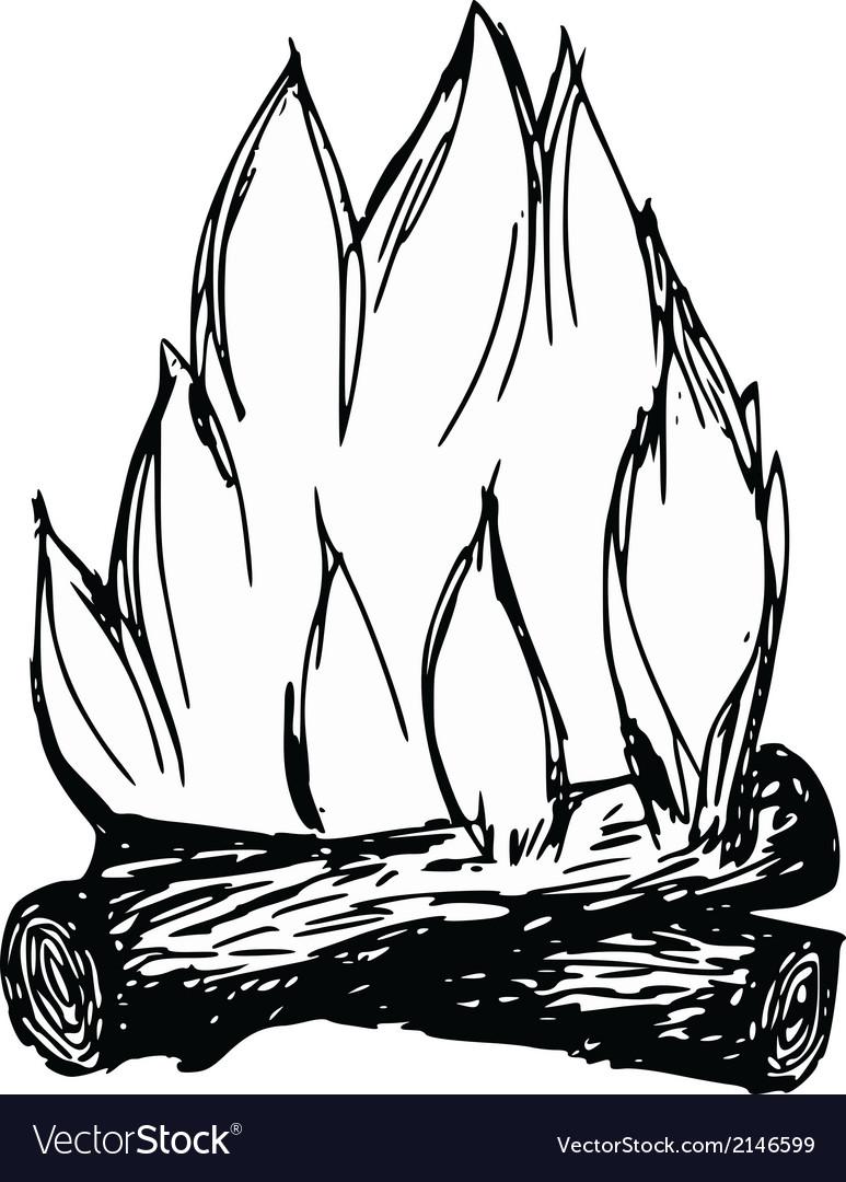 Campfire vector | Price: 1 Credit (USD $1)