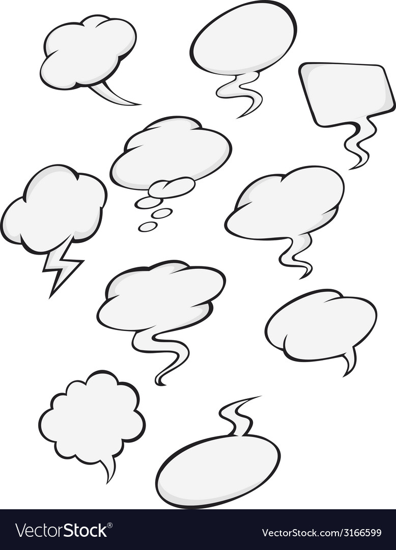 Cartoon clouds vector | Price: 1 Credit (USD $1)