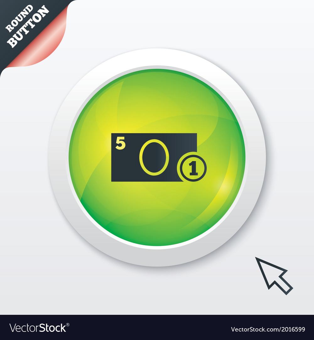Cash sign icon money symbol coin vector   Price: 1 Credit (USD $1)