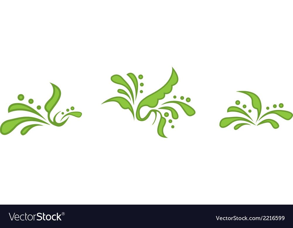 Floral symbols vector | Price: 1 Credit (USD $1)