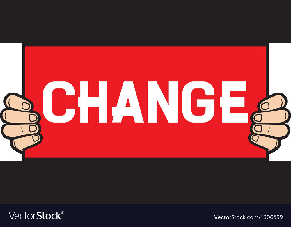 Hand held a banner - change vector | Price: 3 Credit (USD $3)