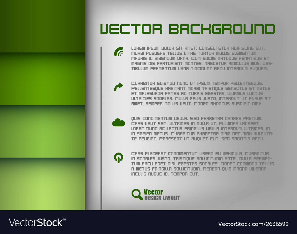 Layout green vector | Price: 1 Credit (USD $1)