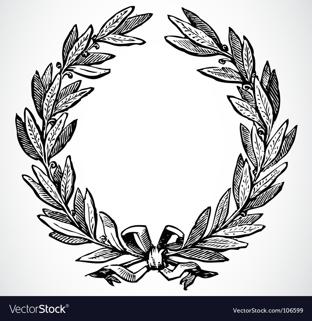 Olive leaf wreath vector | Price: 1 Credit (USD $1)
