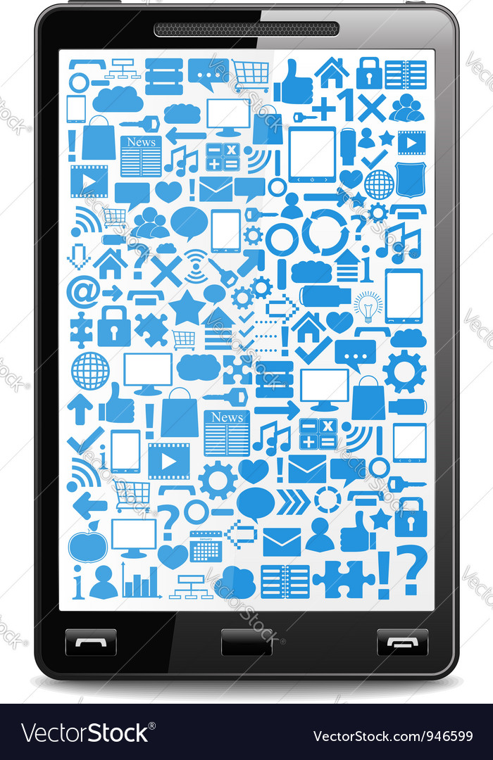 Smart phone vector | Price: 1 Credit (USD $1)
