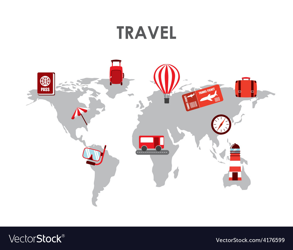 Travel concept vector   Price: 1 Credit (USD $1)