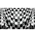 Checkered curtain vector