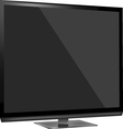 Tv flat screen lcd vector