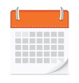 Icon calendar isolated background vector