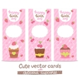 Happy birthday card background with cupcakes vector