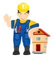 Man builder vector