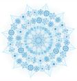 Big blue glowing snowflake vector