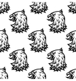 Stylized black eagle seamless pattern vector