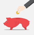 Skinny pig money box vector