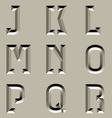 Stone carved alphabet font - part 2 vector
