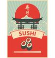 Sushi menu vector