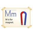 A letter m for magnet vector
