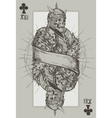 Jack suit of clubs vector