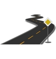 Road with main-road sign vector