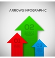 Infographic with 3d arrows vector