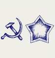 Soviet star icon vector