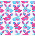 Seamless pattern - toy rabbits vector
