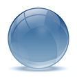 Blue abstract 3d icon ball vector