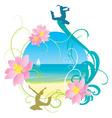 Abstract sea and beach holiday vector