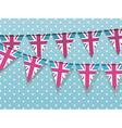 Union jack bunting vector