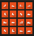 Shoes icons long shadow vector
