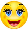 Funny smile emotion vector