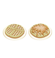 Tradition round waffles vector