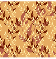 Seamless gold floral autumn pattern vector