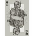 Jack suit of hearts vector