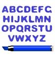 Marker alphabet vector