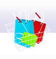 Shopping chart and bags vector