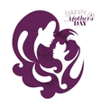 Card of happy mothers day beautiful mother vector