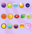 Fifteen colorful button vector