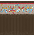 Hand draw butterflies on brown striped background vector