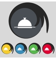 Food platter serving sign icon table setting in vector