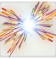 Abstract futuristic background with light burst vector