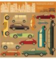 Passenger car transportation infographics vector