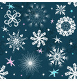 Dark blue christmas seamless pattern vector