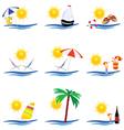 Beauty summer icon vector