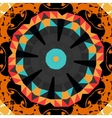 Round mandala line pattern colorful frame for text vector