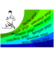 Yoga infographics vector