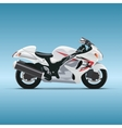 Motorcycle on blue background vector