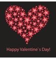 Red valentine heart in floral style vector
